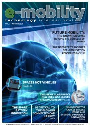E-mobility Technology Winter 2020
