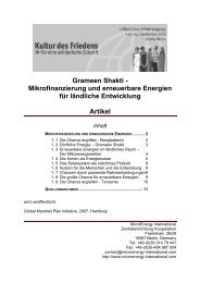 Grameen Shakti - Kultur des Friedens