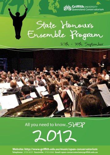 2012 SHEP Handbook (PDF) - Griffith University