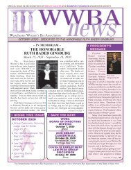 WWBA October 2020 Newsletter