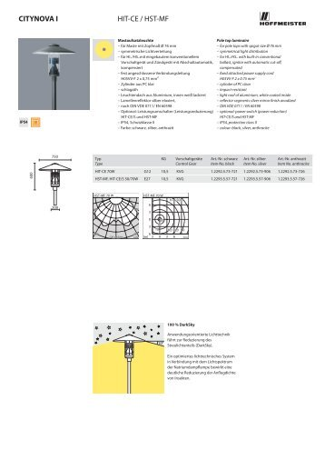 Datenblatt CITYNOVA I + II