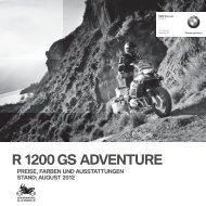 Preisliste R 1200 GS Adventure - BMW Motorrad Deutschland