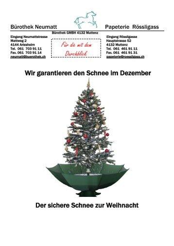 Schneiender Weihnachtsbaum.Schneiende Magazine