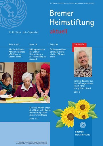 Mit 95 noch mutig gewor - Bremer Heimstiftung