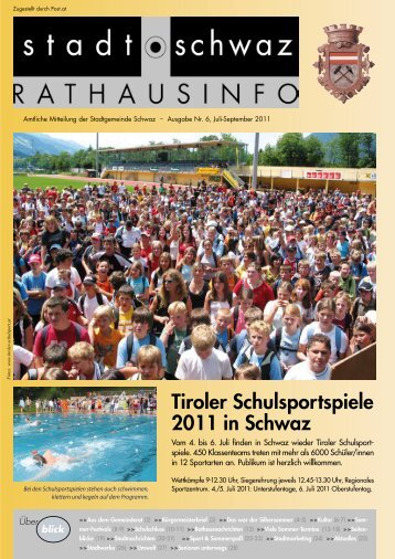 Rathausinfo Nr. 6 2011 - Schwaz