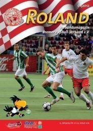 01|2012 Verbandsmagazin Bremer Fußball-Verband e.V.
