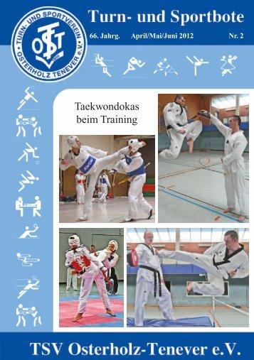 Taekwondokas beim Training - TSV Osterholz-Tenever Bremen