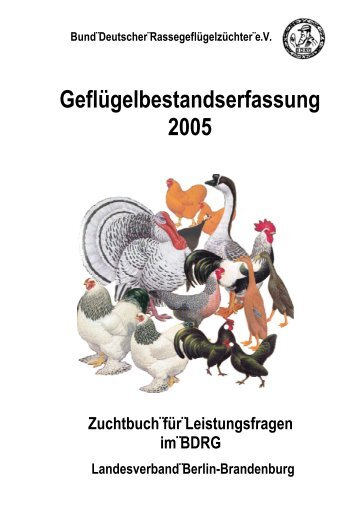 Geflügelbestandserfassung 2005 - Landesverband Berlin