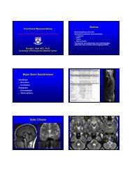 Functional Neuroanatomy or Perfusion Imaging in Cerebrovascular ...