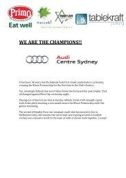 WE ARE THE CHAMPIONS!! - Maccabi Australia