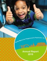 Annual Report - Smith Kids' Play Place in the Park