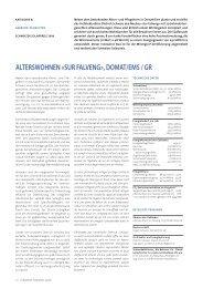 alterswohnen «sur falveng», domat/ems / gr - Solar Agentur Schweiz
