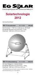 Solartechnologie 2012 - EG-Solar