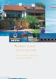 Solaranlage SUNNY FLEX - MTH-Moderne Wassertechnik AG