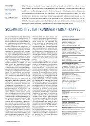 solarhaus iii suter truninger / ebnat-kappel - Solar Agentur Schweiz
