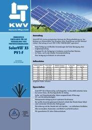 SolarVill® XS PV1-f - KWV Kabelwerke Villingen GmbH