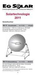 Solartechnologie 2011 - EG-Solar