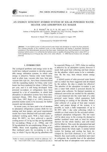 AN ENERGY EFFICIENT HYBRID SYSTEM OF SOLAR POWERED ...