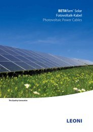 BETAflam® Solar - LEONI Business Unit Wind & Solar Power