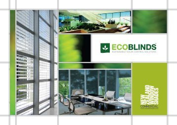 sustainable solar control solutions - New Zealand Window Shades