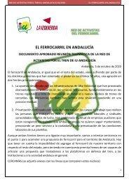 El Ferrocarril en Andalucia. IU. Redes Activistas