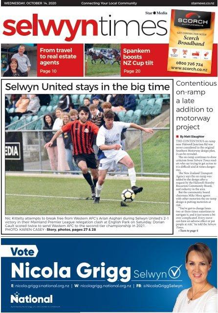 Selwyn Times: October 14, 2020