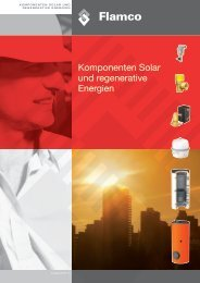 Komponenten Solar und regenerative Energien - Flamco