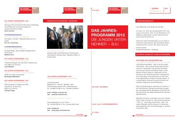 Das Jahres- programm 2012 - Taccs