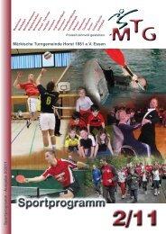 Sportprogramm 2011-2 - MTG Horst