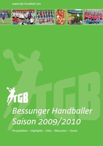 Bessunger Handballer Saison 2009/2010 - TGB 1865 Darmstadt