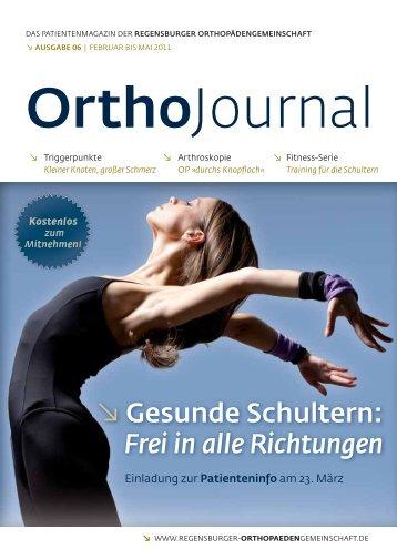 Gesunde Schultern - Regensburger OrthopädenGemeinschaft