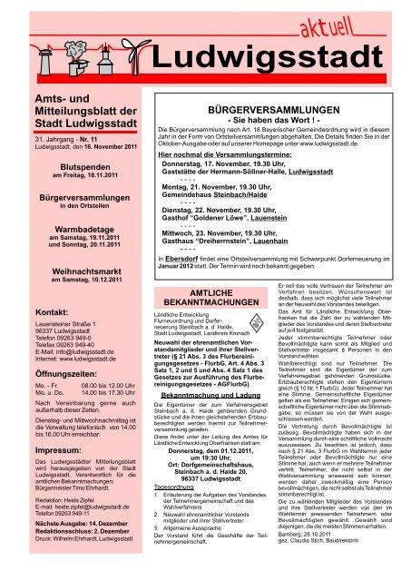 Mitteilungsblatt November 11 - Ludwigsstadt