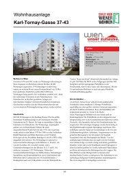 Wohnhausanlage Karl-Tornay-Gasse 37-43 - Wiener Wohnen