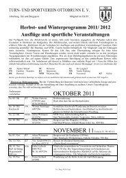 Herbst- Und Winterprogramm 2011 - TSV Ottobrunn eV