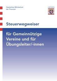 Steuerwegweiser für Gemeinnützige Vereine und für ... - SGH Berlin