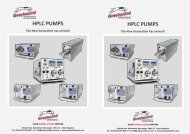 Greyhound Chromatography HPLC Pumps Brochure 2020-21