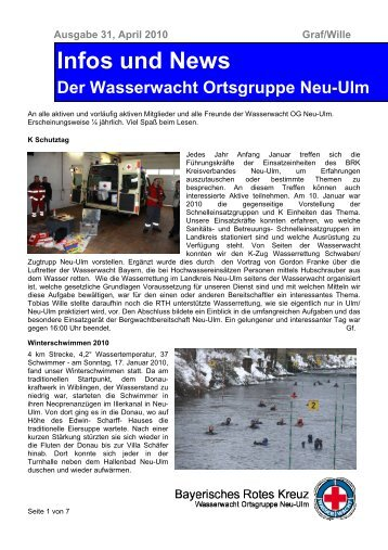 Ausgabe 31, April 2010 - Wasserwacht Ortsgruppe Neu-Ulm