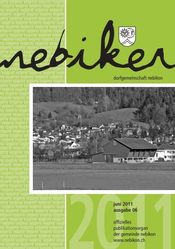 Nebiker - Juni 2011 - Gemeinde Nebikon