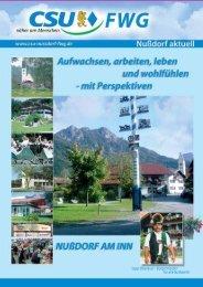 Gemeinderats- kandidaten - CSU-Nußdorf-FWG