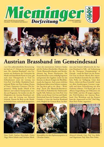 Dorfzeitung März 2009 - Gemeinde Mieming - Land Tirol