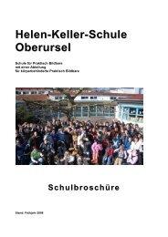 Schulbroschüre - Helen-Keller-Schule Oberursel