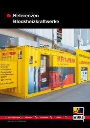 Referenzen Blockheizkraftwerke - Würz Energy