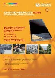HOCHLEISTUNGS-SONNENKOLLEKTOR EKS3000 - HQ Line