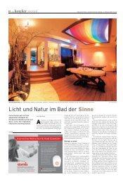 Licht und Natur im Bad der Sinne - ELKE BIRKE