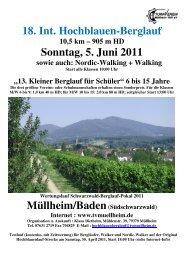 18. Int. Hochblauen-Berglauf Sonntag, 5. Juni 2011 - Turnverein ...