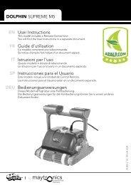 DOLPHIN SUPREME M5 EN FR IT SP DEU User Instructions Guide ...