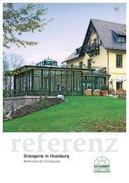 referenz Orangerie in Ilsenburg - Schubert Wintergarten GmbH