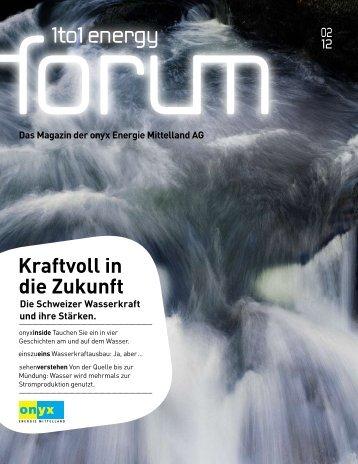 1to1 energy forum 2/2012 - Onyx Energie Mittelland