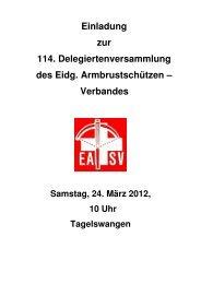 Anträge der RPK zur Jahresrechnung 2011 - EASV