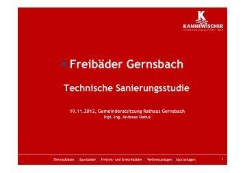 Erfassung technische Mängel - Stadt Gernsbach